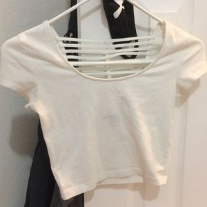 White Strappy Crop Top